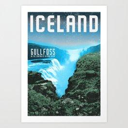Iceland: Gullfoss Art Print