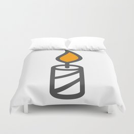 Candle in Design Fashion Modern Style Illustration Duvet Cover