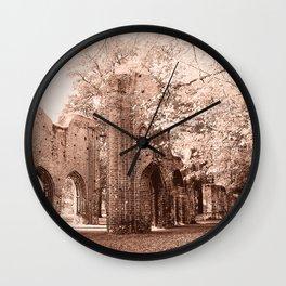 Ruins of Eldena Abbey Wall Clock