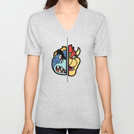 Old & New Bowser Unisex V-Neck