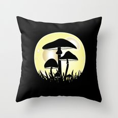Mushrooms In Moonlight Throw Pillow