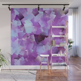 Lilacs And Blue Skies Cubed Wall Mural