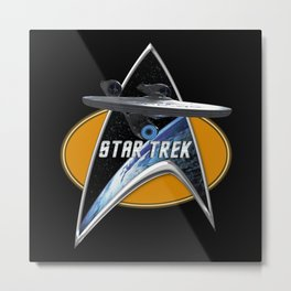 StarTrek Enterprise 1701 09  Command Signia Chest Metal Print