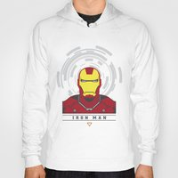 ironman Hoodies featuring IRONMAN by Nuthon Design