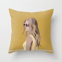 golden Throw Pillows featuring Golden by Anna McKay