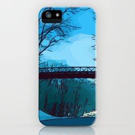 Blue Winter Bridge iPhone Case