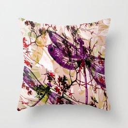Dragonflies 11 Throw Pillow