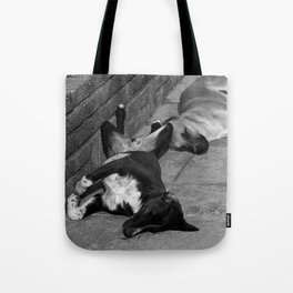 Greek Dogs Tote Bag