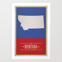 montana Art Prints featuring MONTANA by Matthew Justin Rupp