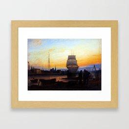 Johann Friedrich Boeck Greifswald Habour Framed Art Print