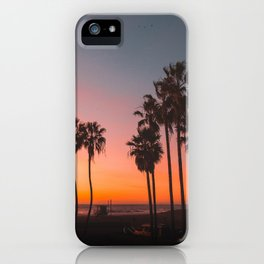 Venice Beach Vibrant Views at Sunset iPhone Case