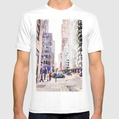 NYC Mens Fitted Tee White MEDIUM