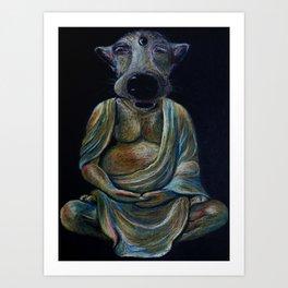 Buddhdog Art Print