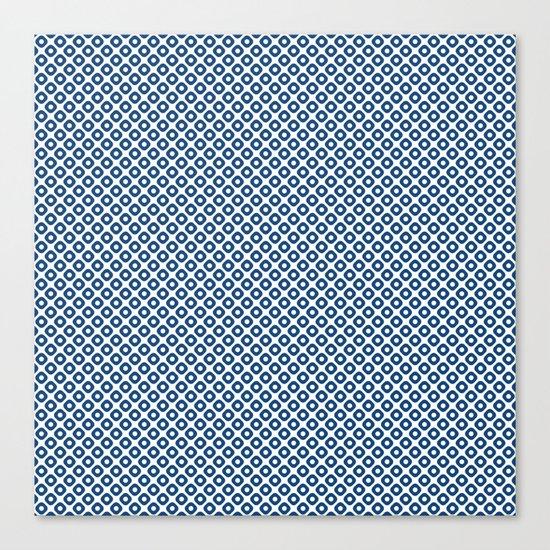 kanoko in monaco blue Canvas Print