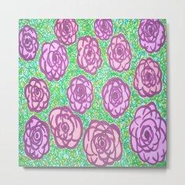 Preppy Rose Garden Metal Print