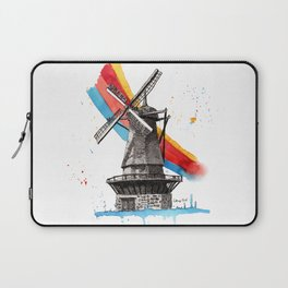The Windmill and the Rainbow Laptop Sleeve