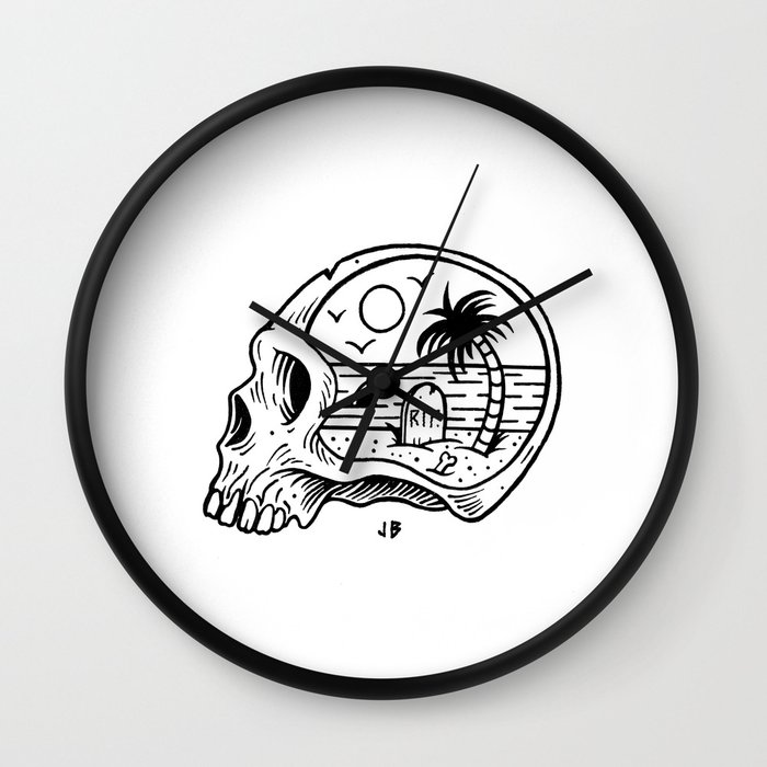 Die-o-rama Wall Clock by jamiebrowneart | Society6