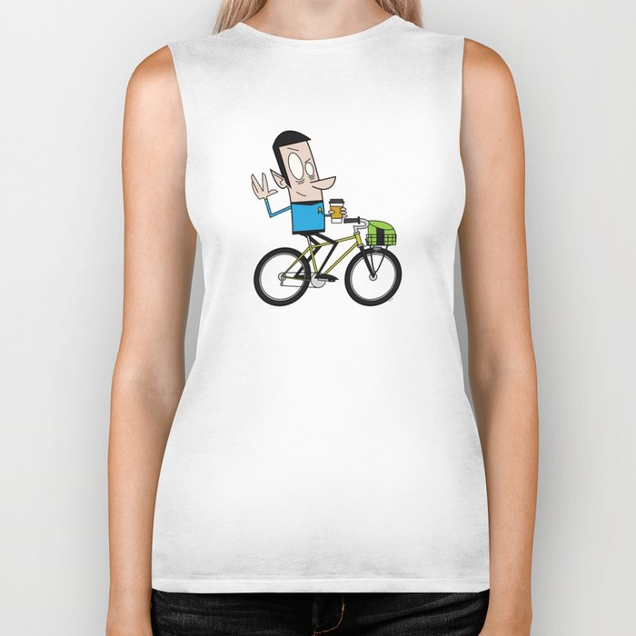 Coffee Spock Biker Tank