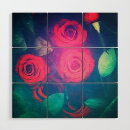 Rose Red Wood Wall Art
