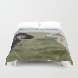 Sheeply in Love - Animal Photography from Iceland Duvet Cover
