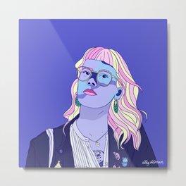 Cute pastel girl Metal Print
