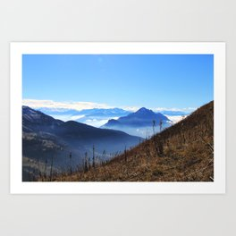 Mountains for miles Art Print