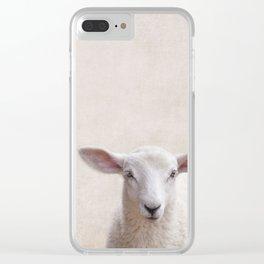 Lamb Portrait Clear iPhone Case