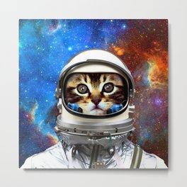 Astronaut Cat #2 Metal Print