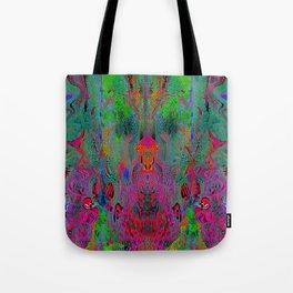 Garish Hidden Clown (Psychedelic, Op Art, Abstract) Tote Bag
