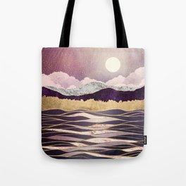 Lunar Waves Tote Bag