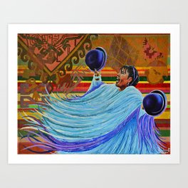Colorida Latinoamércia Art Print