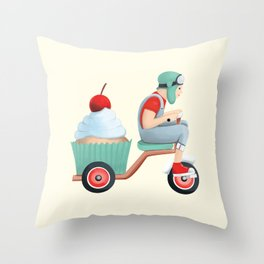 sweet on the way Throw Pillow