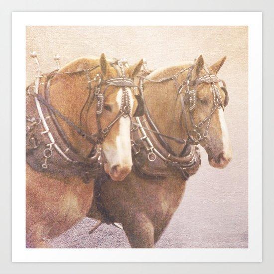 Draft Horses 2 Art Print