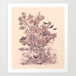 Fig Tree Island Art Print
