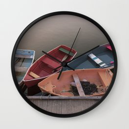 Four Skiffs Wall Clock