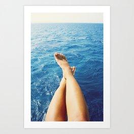Legs on the holiday Art Print