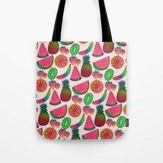 Rainbow fruits by Luna Portnoi Tote Bag
