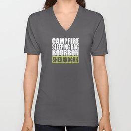 Campfire, Sleeping Bag, Bourbon, Shenandoah Unisex V-Neck