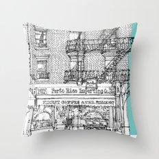 PORTO RICO IMPORT CO, NYC Throw Pillow