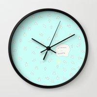 bunny Wall Clocks featuring BUNNY by Monika Strigel