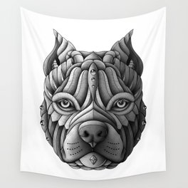 Ornate Pitbull Wall Tapestry
