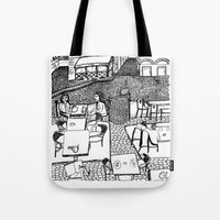 stockholm Tote Bags featuring Stockholm by intermittentdreamscapes
