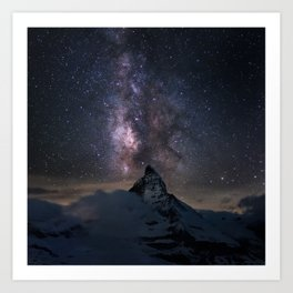 Matterhorn and Milky Way  (RR91) Art Print