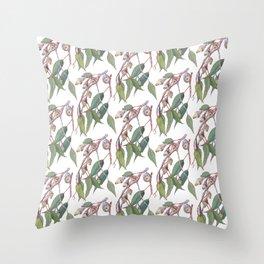 Australian eucalyptus tree branch Throw Pillow