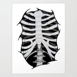 Skeleton Ribs Art Print