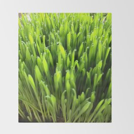 Glowing Green Throw Blanket