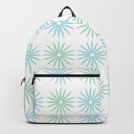 Blue Green Daisies Backpack