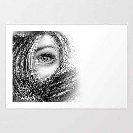 'Coz eye is never lie.... Art Print