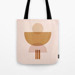 Amber Abstract Half Moon 3 Tote Bag
