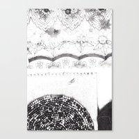 notebook Canvas Prints featuring Notebook Collage by Ellie And Ada